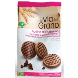Wheat biscuits with cocoa and chocolate drops 300 g