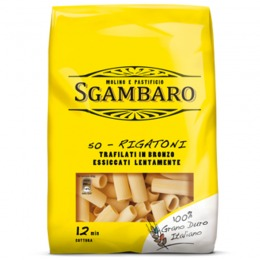 Bronze extruded Rigatoni  500 g