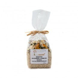 Semi whole grain risotto with courgette and courgette flowers 300 g