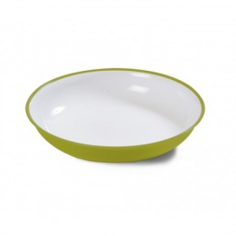 Green soup plate  w/ Microban®