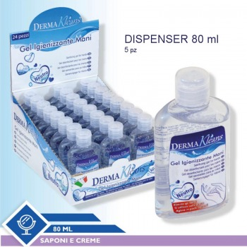 Gel for hands hygiene 80ml - 5 pieces